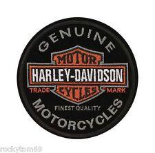 "Harley-Davidson Emblem, Long Bar & Shield, Patch EM312642-Size: 4"" x 4"""