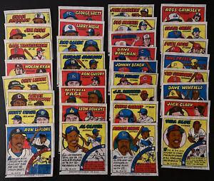 1979 TOPPS MLB Baseball Comic Bubble Gum Portraits Wax Wrappers Complete Set 33