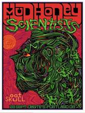 THE SONICS Stockholm 2018 silkscreened poster by Francisco Ramirez