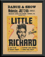 1957 Little Richard Concert Poster Reprint On Old Paper *259