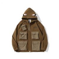 2021New A Bathing Ape Bape Jacket Hoodie Sweatshirt Jacket Coat brown Windbreake