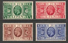 Great Britain #226-229 FVF MNH - 1935 1/2p to 2 1/2p Silver Jubilee Issue