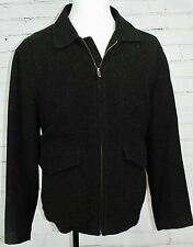 Columbia Wool Overcoat Coat - Mens Large Full Zip Fall Winter Jacket