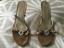 Clarks Ladies Heeled Sandals / Shoes Size 7. Good Condition.