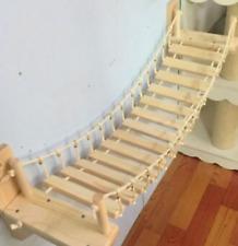 Roped Cat Bridge Set Tree Tower Wall Wood Climbing Frame Wall Sisal Scratchin