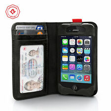 Twelve South BookBook for iPhone 4/4s, Vintage Leather iPhone Wallet Case, Black