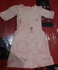 Ensemble robe velours  tee-shirt hiver KITCHOUN 1 MOIS ROSE