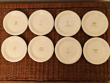 "Williams Sonoma Wine & Cheese Appetizer Snack Canapé Plates 6"" (Set Of 8)"