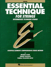 """ESSENTIAL TECHNIQUE FOR STRINGS"" INTERMEDIATE STUDIES VIOLIN MUSIC BOOK-NEW!!"