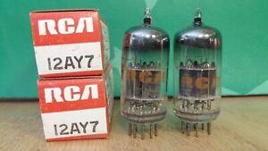 Pair of RCA 12AY7 NOS NIB Vacuum Tubes - 7% matched
