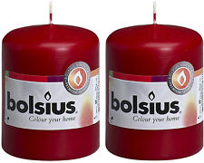 Bolsius Stumpenkerzen 80 X 60 Mm Stumpe Kerze Candle Bordeaux