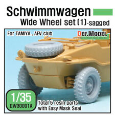 DEF.MODEL, DW30001A,WWII Schwimmwagen Wide Wheel set (1) (for Tamiya, AFV), 1/35