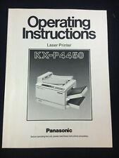 PANASONIC LASER PRINTER KX-P4450 OPERATING INSTRUCTIONS