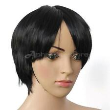 Vogue Stylish Black Short Straight Cosplay Party Men's Hair Full Wigs Fashion