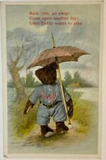 Vintage Fred Cavally - Baseball - Teddy Bear - H.H. Tammen Curio Co. Postcard