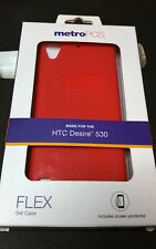 MetroPCS Phone Case for HTC Desire 530 Flex Gel case Red