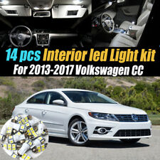 14Pc Super White Interior LED Light Bulb Kit Package for 2013-2017 Volkswagen CC