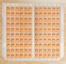 AFS53) Australia 1932 KGV ½d Orange Ovpt. OS, Electro 9 complete sheet cto. Melb