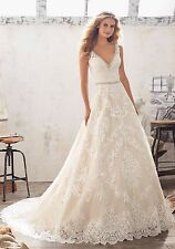Size 20 Mori Lee Wedding Gown Style 8124 Ivory Light Gold Color Stunning