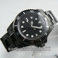 42mm sterial Dial Black PVD Case Mens Automatic Mechanical Wrist Watch