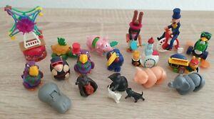 Ü Ei altes Spielzeug - ab 1986 - Konvolut - u.a. Pfennigfresser und Kugeltiere