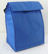 Reusable Insulated LUNCH BAG - ROYAL BLUE - Tab Closure - Front Pocket