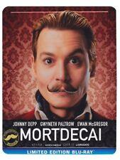 MORTDECAI Blu ray Steelbook ( Italian ) ( NEW ) English Audio