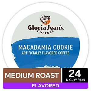 Gloria Jean's Macadamia Cookie Coffee 24 to 144 Keurig K cup Pods Pick Any Size