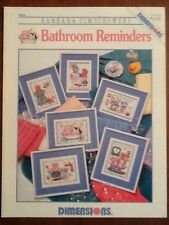 Dimensions Cross Stitch Pattern Leaflet Barbara Cimochowski Bathroom Reminders