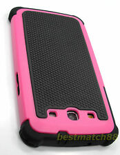 for Samsung galaxy s3 pink black triple layer rugged hard case cover
