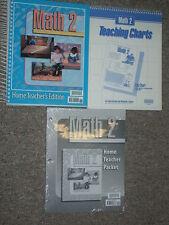 BJU Bob Jones 2nd Grade 2 MATH Set Teacher Edition-Charts-Home Teacher Packet