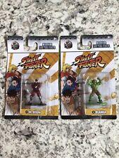 Nano Metalfigs Street Fighter  M.Bison Blanka 100% Die Cast Metal