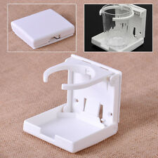 White Marine Boat Yacht Cup Holder Plastic Adjustable Folding Water Drink Holder
