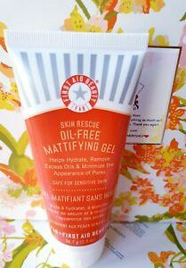 First Aid Beauty Skin Rescue Oil-Free Mattifying Gel Moisturizer 2 oz Sealed