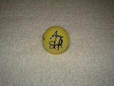 angela stanford handsigniert gelbe top flite golfball unterschrift autogramm lpga