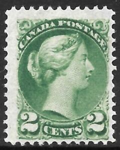 CANADA 1889-91 2c blue-green, mint no gum with partial offset on reverse. SG 104