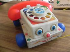 Fisher Price 1961 rare Ancien telephone jouet à tirer yeux qui roulent