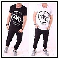 a7f5bfd37420ab Oversize T-Shirt 54 Schwarz Weiß Herren Kingz Design Style Luxus Tee Long XS -