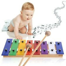 8 Notes Wooden Xylophone Glockenspiel Children Kid Musical Instrument Music Toy