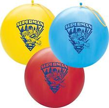 """Qualatex 14"""" Round Latex Punch Ball Balloon Officially Licensed Superman"""