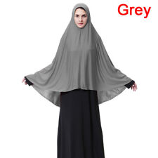 Muslim Women Prayer Hijab Long Scarf Jilbab Islamic Large Overhead Dress M- XL F