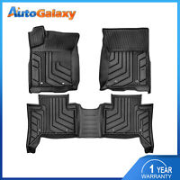 Set(3) TPE Floor Mats Liners For 2016-2021 Toyota Tacoma Double-cab Crew Cab