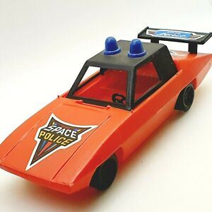 Vintage SPACE POLICE plastic toy car Hungary 1980's RED VERSION