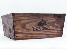 1 Bath Body Works White Barn BROWN WOOD CRATE Tray Gift Box Set Basket Candle