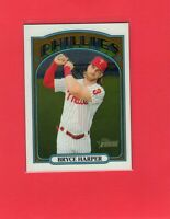 2021 Topps Heritage Chrome baseball #13 BRYCE HARPER Phillies SP /999