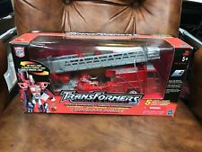 Transformers RID Action Figure Optimus Prime Fire Truck to Robot 2001 MISB new
