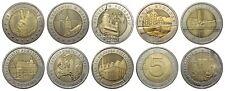 10 x 5 zl  Bimetall Münzen aus  Polen von 2014 bis 2019