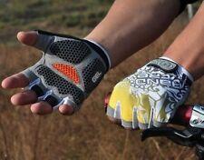 Fashion New Cycling Bike Bicycle Shockproof Half Finger Glove Hexagonal GEL Pad