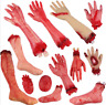 Walking Dead Skeleton Halloween Bloody Hands Zombie Skinned Arm Prop Body Parts