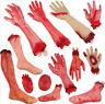 Walking Dead Skeleton Halloween Bloody Hands Zombie Skinned Arm Prop Body Parts